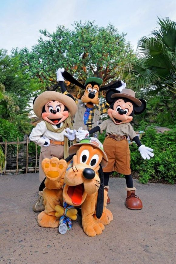 Group picture of characters at Animal Kingdom