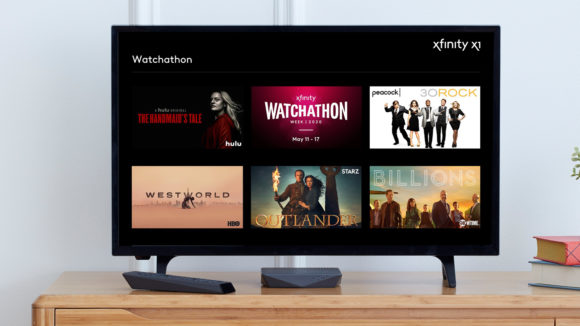 Image showing viewing options during Xfinity Watchathon