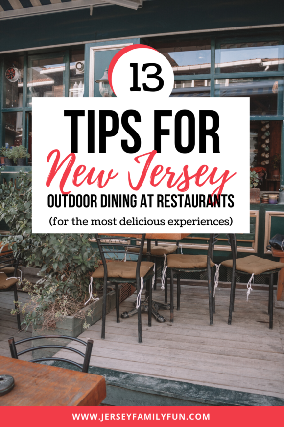 Tables situated outdoors for dining in New Jersey