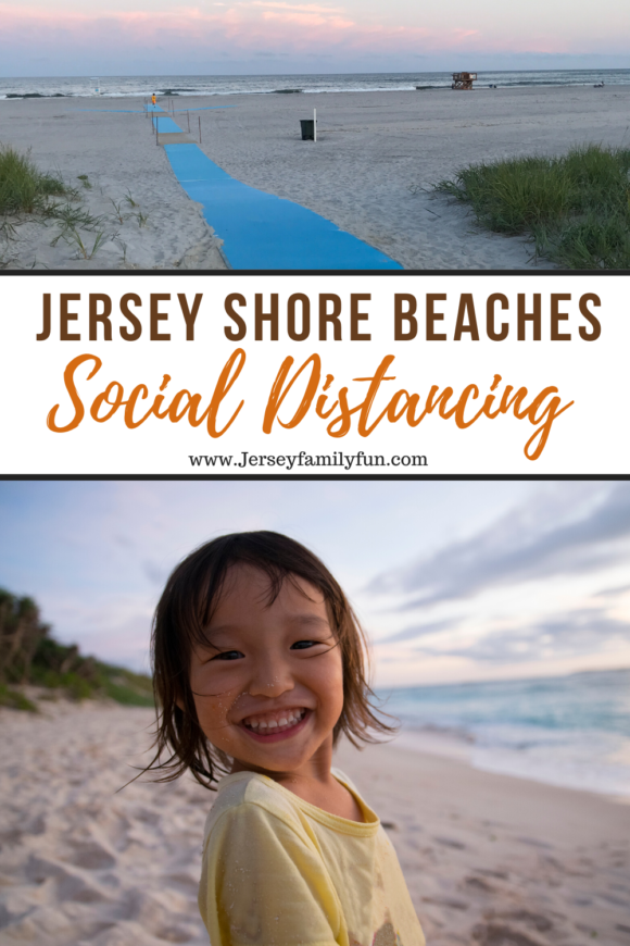 New Jersey beach scenes for a pinterest image