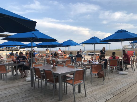 outdoor dining at the Seaport Pier in Wildwood
