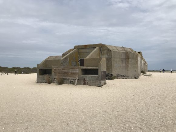 World War II Bunker on beach at Cape May Point State Park