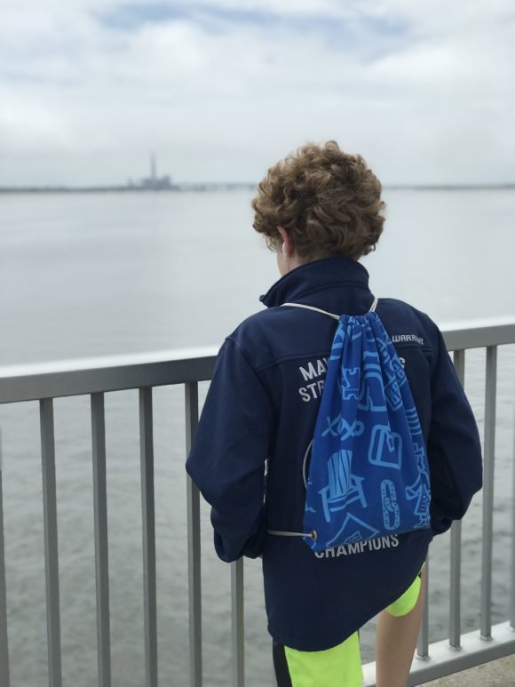 boy on Ocean City bridge