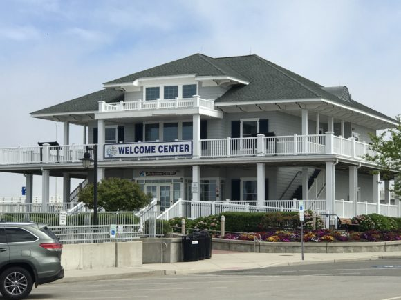 The Ocean City Visitors Center has restrooms for those who walk across the Ocean City Bridge.
