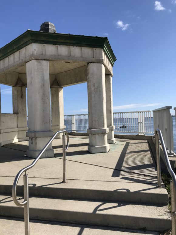 Cement gazebo at base of Ocean City Bridge on Somers Point side.