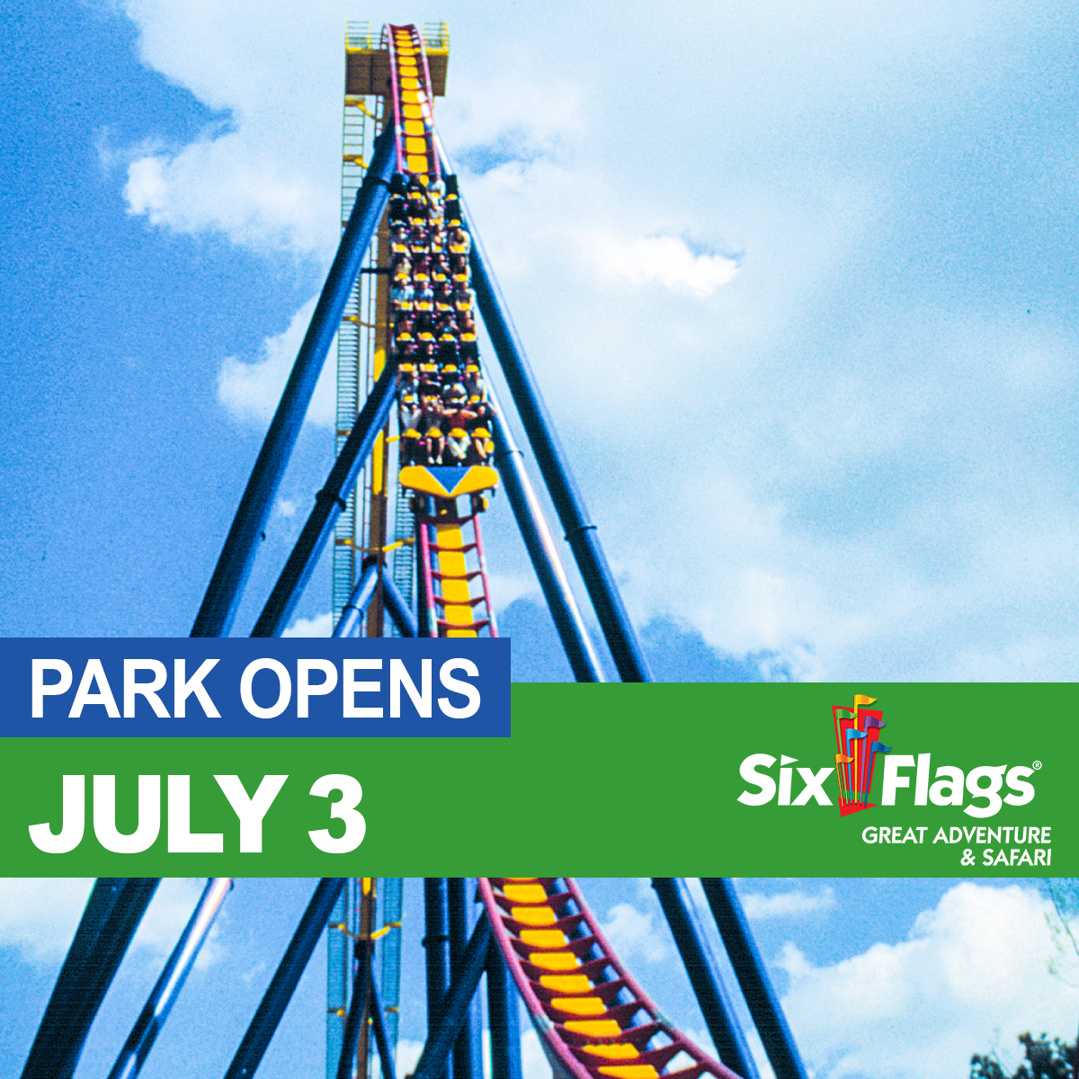 Six Flags Great Adventure Reopens July 3, 2020