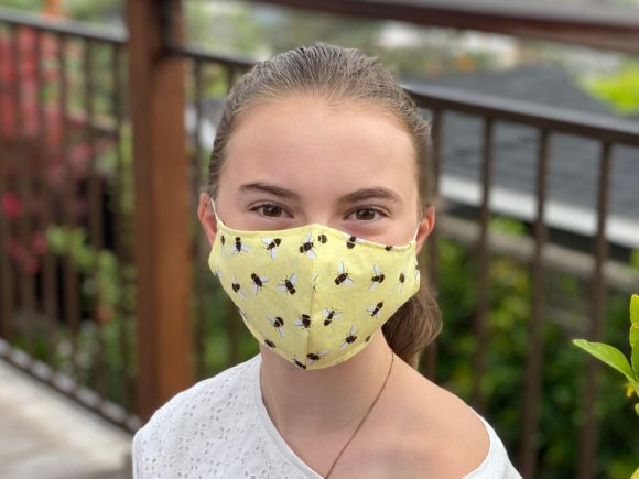 Bees face masks for kids from KidCover