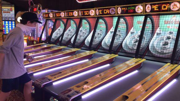 Skeeball at Fantasy Island arcade