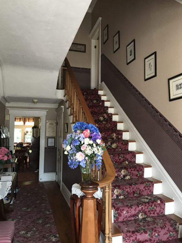 Interior staircase at J. D. Thompson Inn