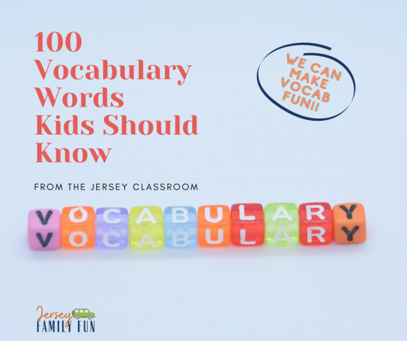 100 Vocabulary Words Kids Should Know square image