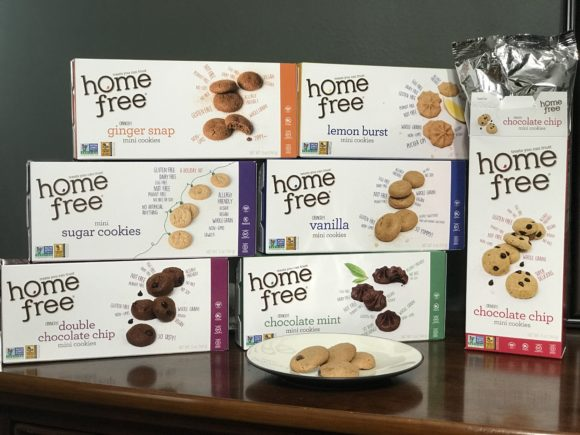 Yummy gluten-free cookies from homefree mini cookies with 7 different varieties.