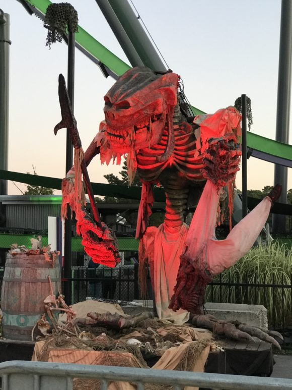 Grotesque skeleton at Six Flags Great Adventure Halloween event