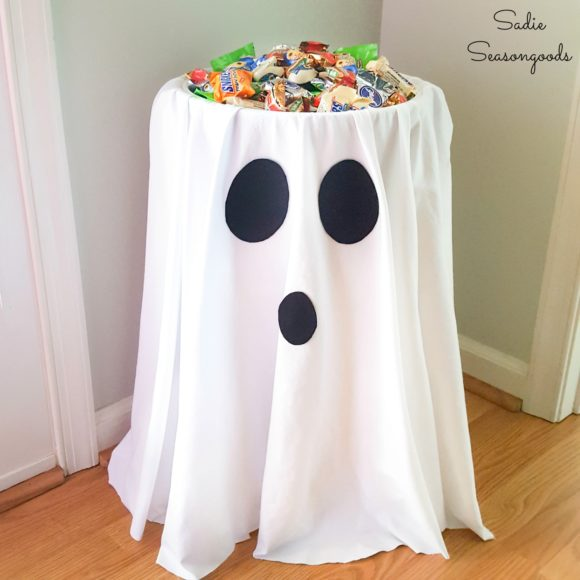 Halloween candy stand by Sadie Seasongoods for low-contact trick or treating