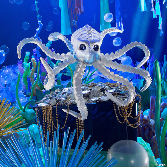 Large Light-Up Octopus Skeleton Halloween Decoration for outdoor Halloween decor