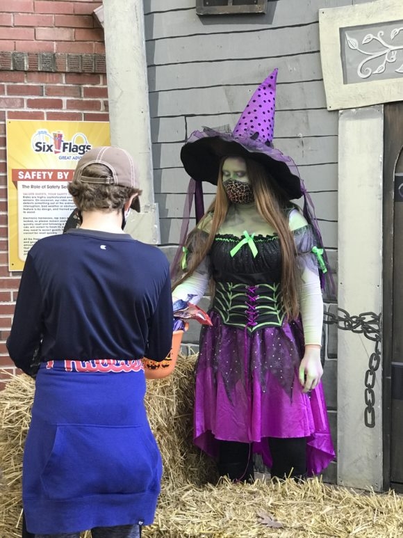 Trick or treating at Six Flags Great Adventure