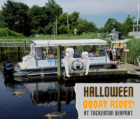 How much are the Tuckerton Seaport Halloween Boat Rides?
