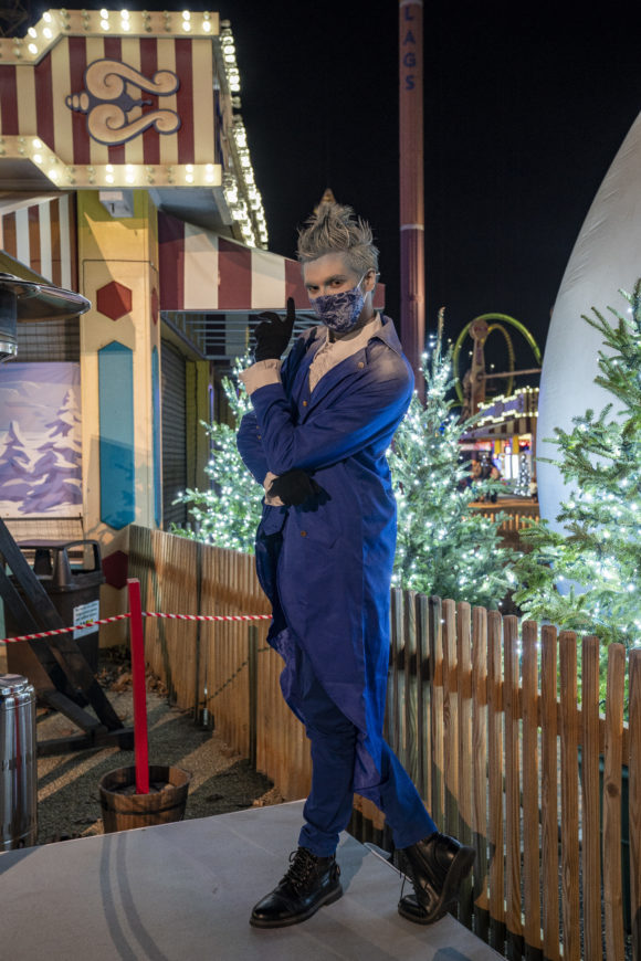 Jack frost at Six Flags Great Adventure Holiday in the park