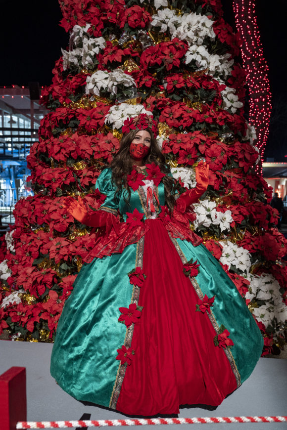 Poinsetta princess at Six Flags Great Adventure Holiday in the Park