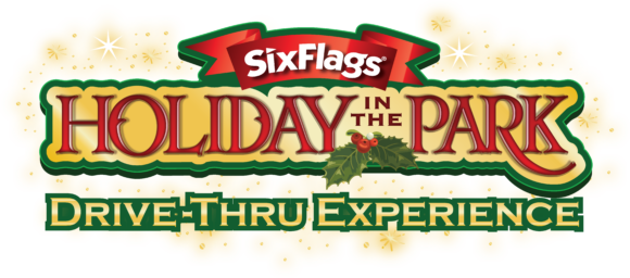 horizontal logo for Six Flags Great Adventure Holiday in the Park drive thru experience.