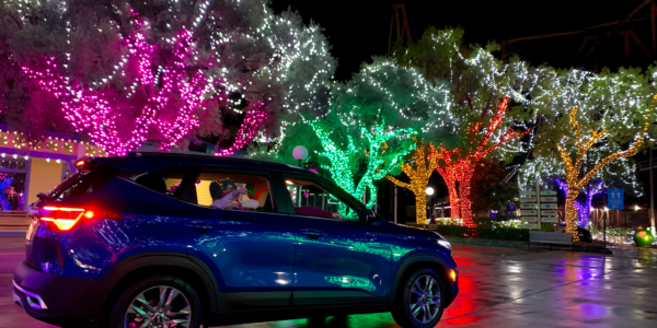 Six Flags Great Adventure Drive Thru Christmas Lights in New Jersey!