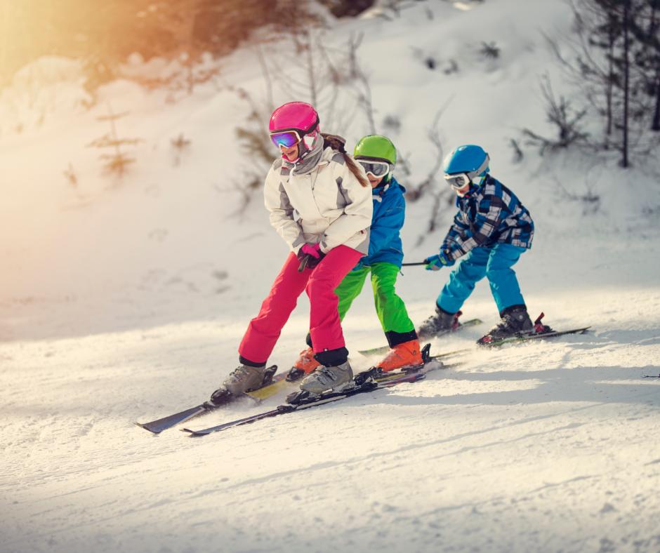 3 kids ski in New Jersey