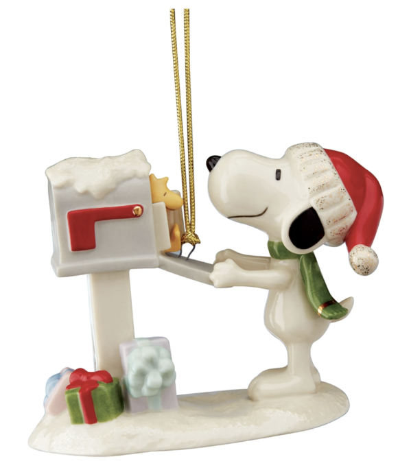 2020 Lenox Snoopy ornament, Snoopy's Letter to Santa Ornament