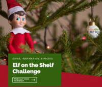Elf on the shelf challenge image of elf in tree