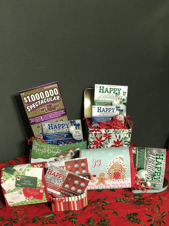 Vertical image of different ways to gift NJ lottery tickets