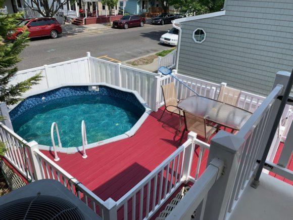 Complete Wildwood Vacation House Rental pool