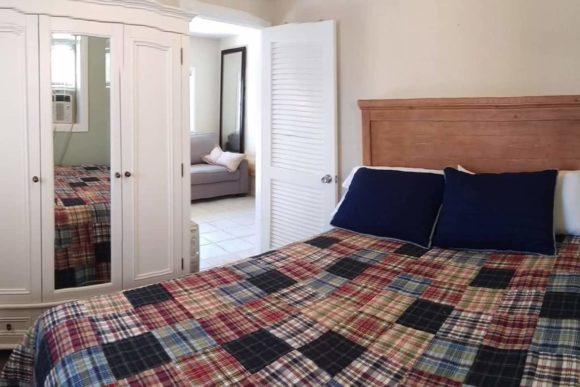 WildWoof Beach Bungalow master bedroom
