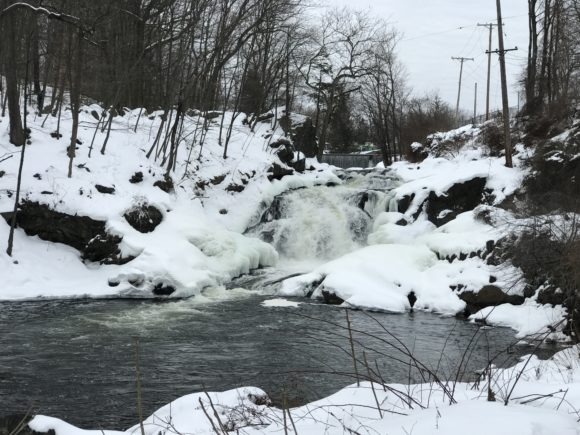Boonton Falls a NJ hiking trail with waterfalls in Morris County NJ