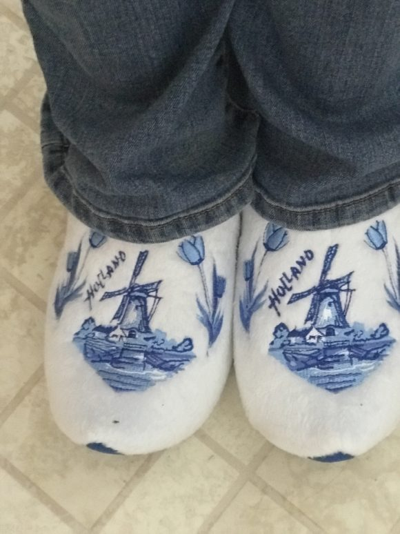 Holland wooden shoe slippers bought at tulip festival