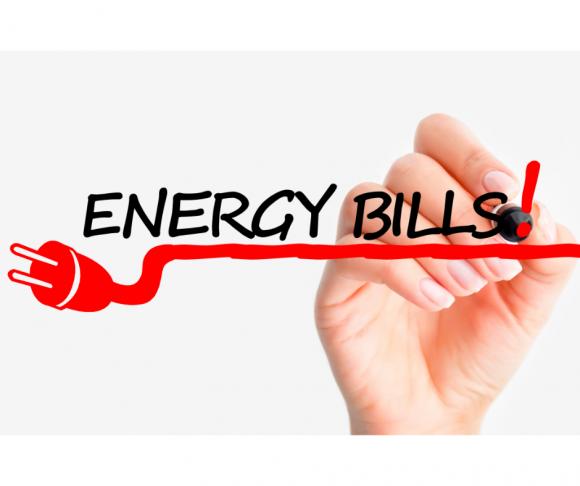 Energy bills written in marker