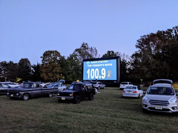 Drive in movies at Historic Smithville park