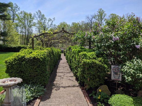 Historic Smithville park courtyard gardens