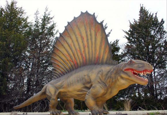 Xpedition Dino Dinosaurs at six flags great adventure Dimetrodon