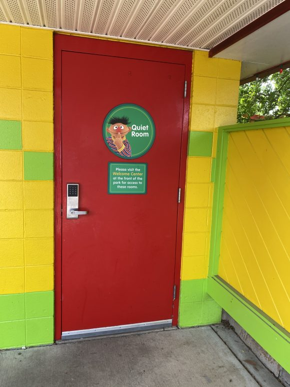 A quiet room at Sesame Place offers toddlers and preschoolers a safe place to get away from the action.