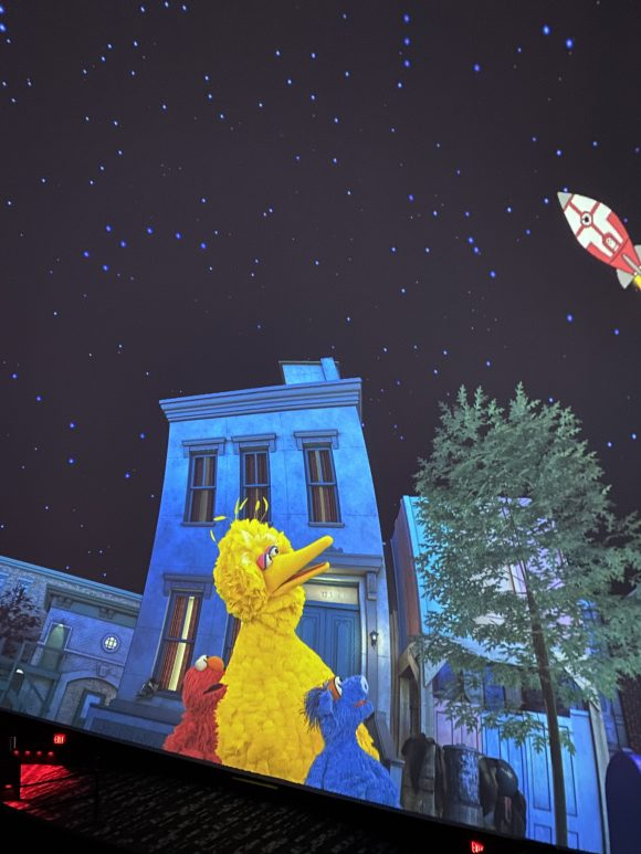 Of the Liberty Science Center shows for toddlers and preschoolers is a planetarium show with Sesame Place characters.