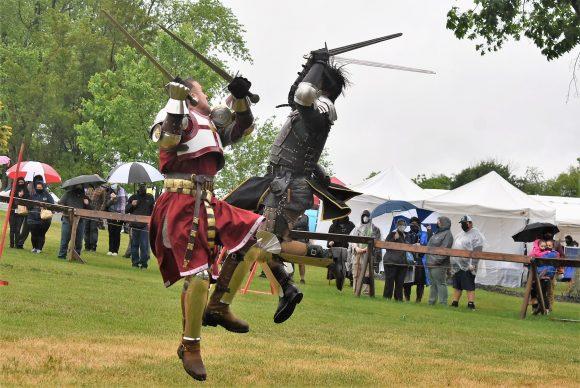 knights joust at the NJ Renaissance Faire