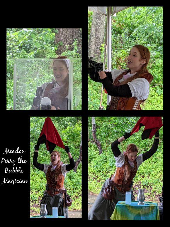 Meadow Perry the bubble magician NJ renaissance faire