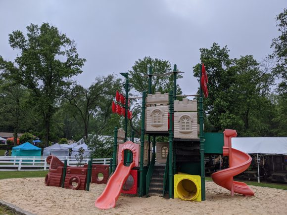 Little ones will enjoy the playground at the NJ Renaissance Faire