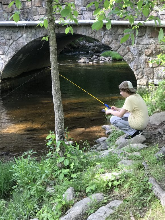 Stokes State Forest Big Flatbrook area boy fishing