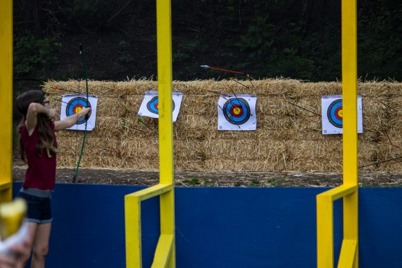 archery at the NJ renaissance faire