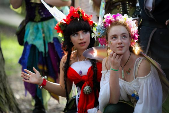 Some guests dress up for the NJ Renaissance Faire