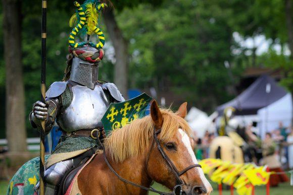 knight on a horse at NJ Renaissance Faire