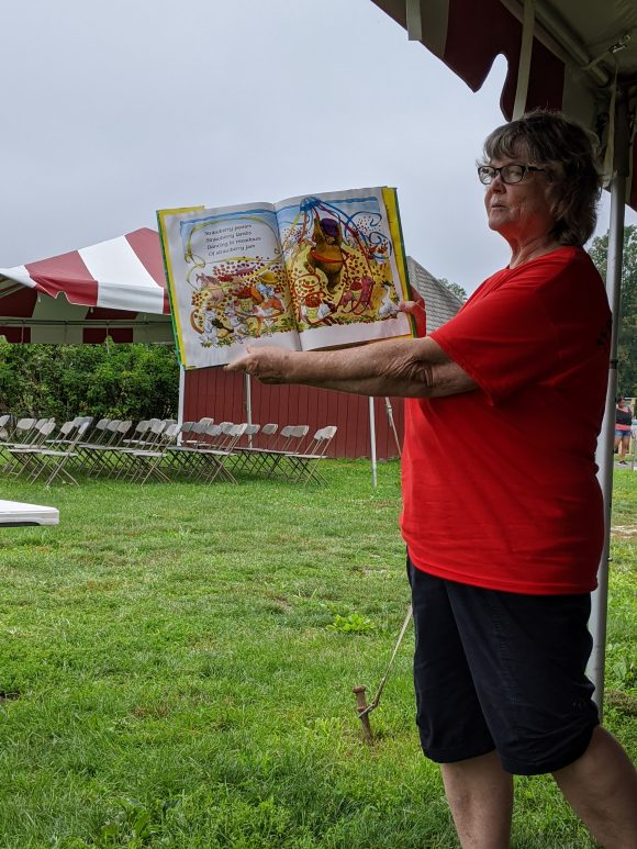 Terhune Orchards offers a pick and read blueberries program for kids.