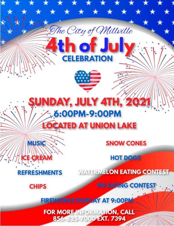 millville July 4th fireworks and celebration