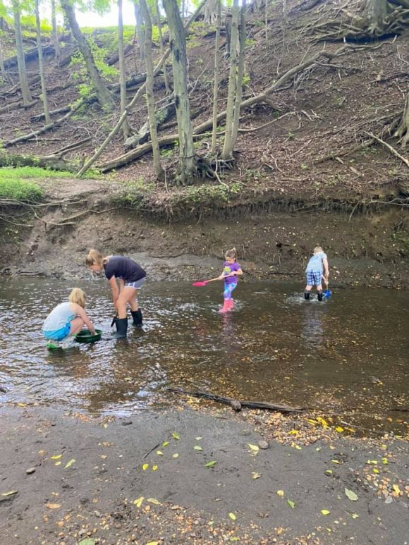 Big Brook Preserve digging in the mud for fossils