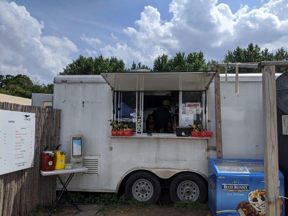 Dinobites food truck at Field Station Dinosaurs