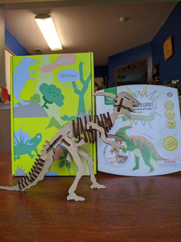 Parasaurolophus kit available at Parasaurolophus Tricerashops gift shop at Field Station Dinosaurs